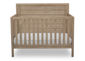 Serta Rustic Driftwood (112) Cambridge 4-in-1 Convertible Crib, Front View b2b