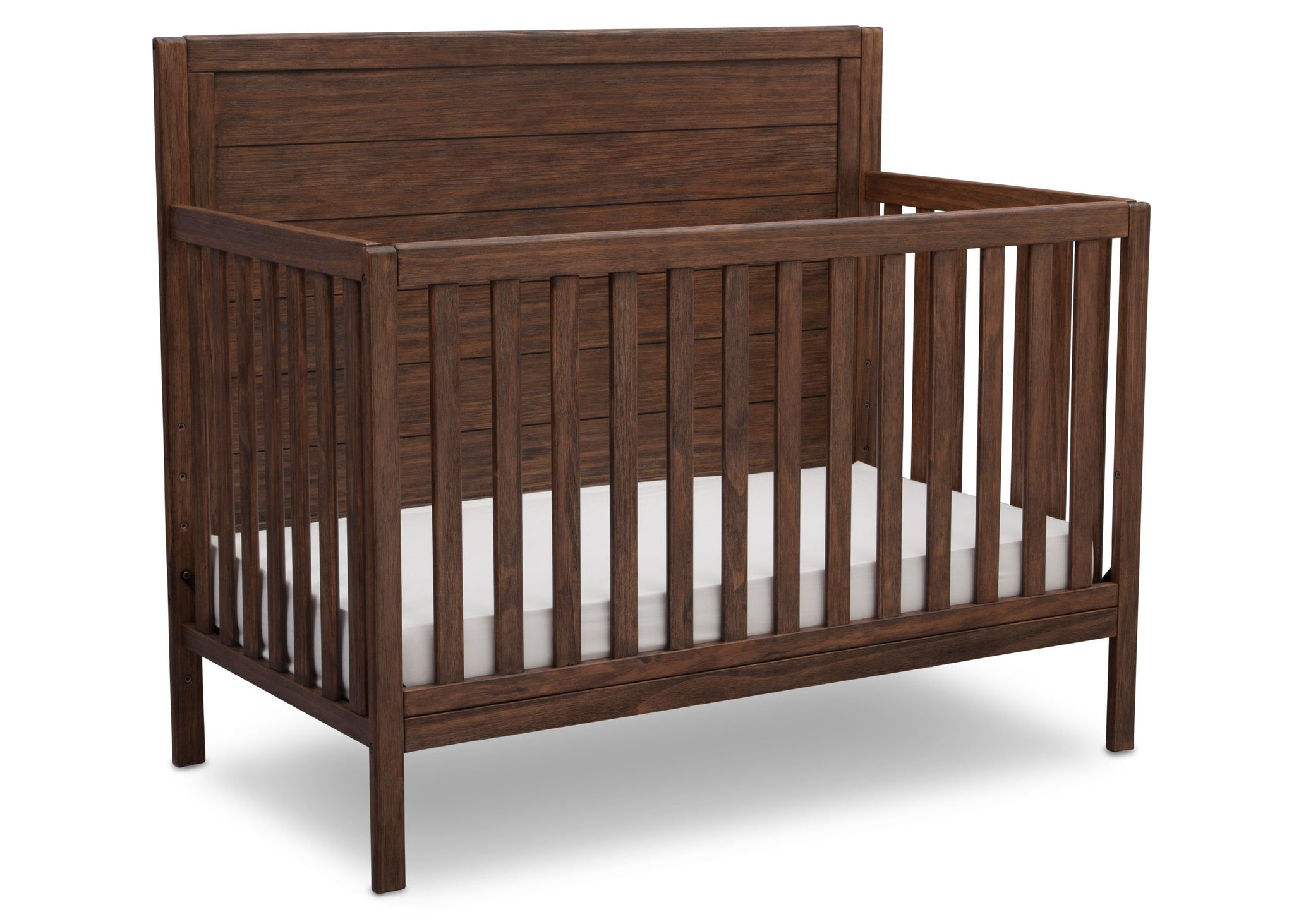 Serta Rustic Oak (229) Cambridge 4-in-1 Convertibel Crib, Angled View c3c
