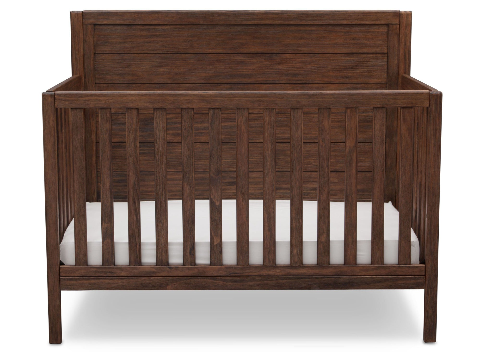 Serta Rustic Oak (229) Cambridge 4-in-1 Convertibel Crib, Front View c2c