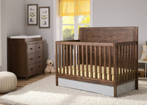 Serta Rustic Oak (229) Cambridge 4-in-1 Convertible Crib, Room View c1c