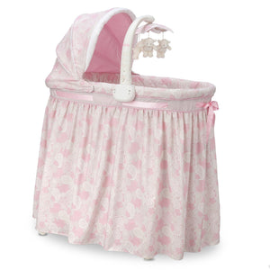 Simmons Kids Pink Paisley (670) Gliding Bassinet Side View a1a