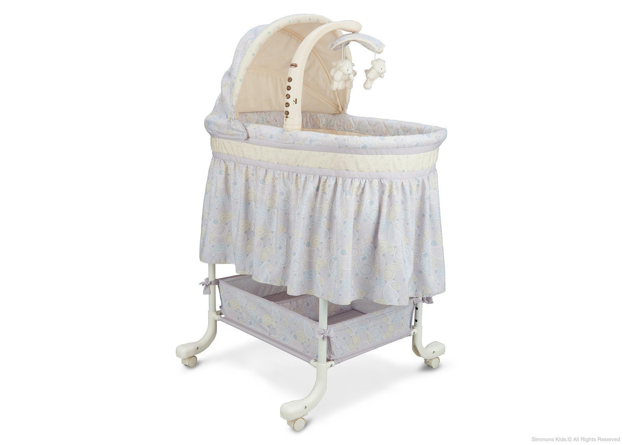 Simmons Kids Paisley Park (050) Deluxe Gliding Bassinet Right View a1a