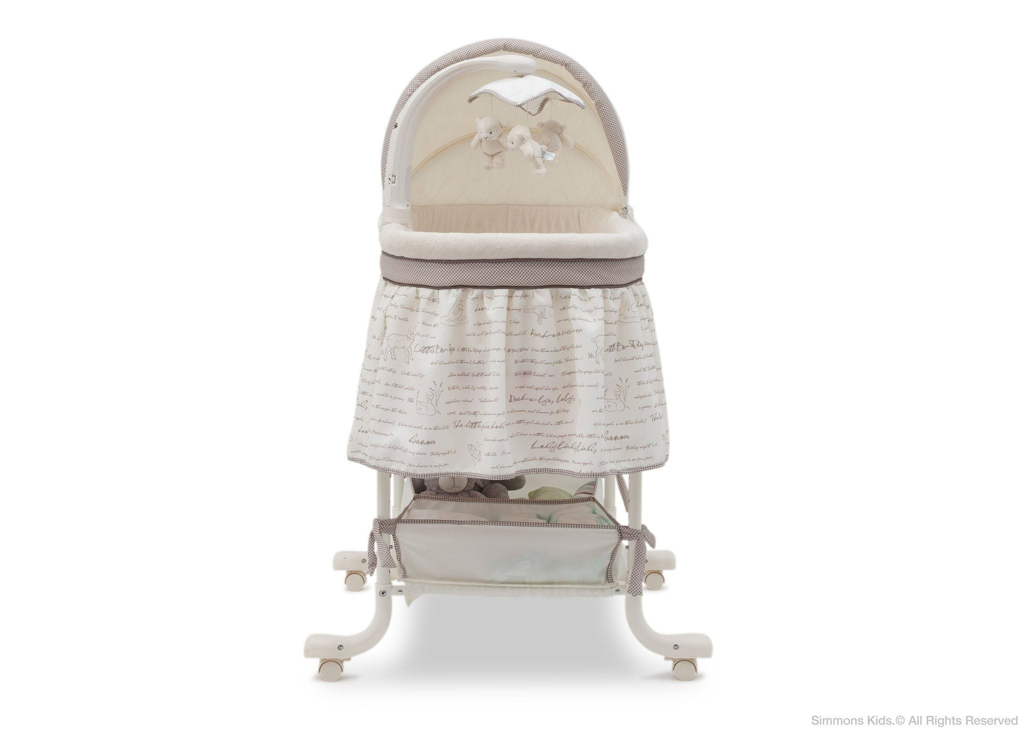 Simmons Kids Nursery Rhyme (172) Deluxe Gliding Bassinet Front View b2b