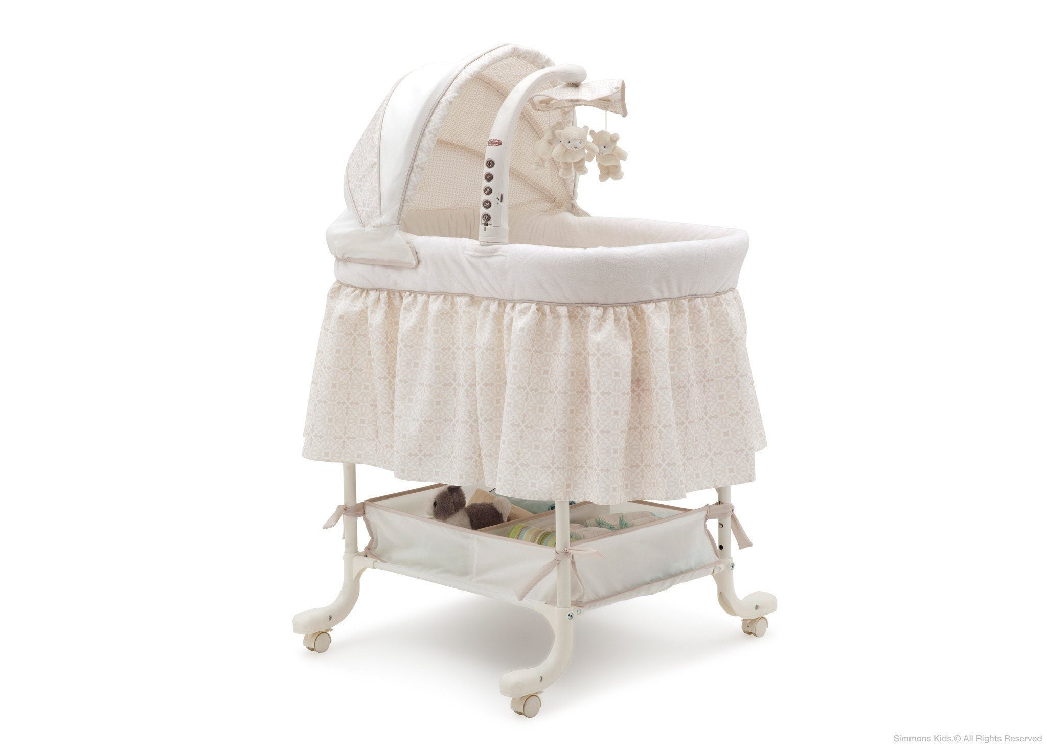 Simmons Kids Sandcastles (293) Deluxe Gliding Bassinet Right Side View c1c