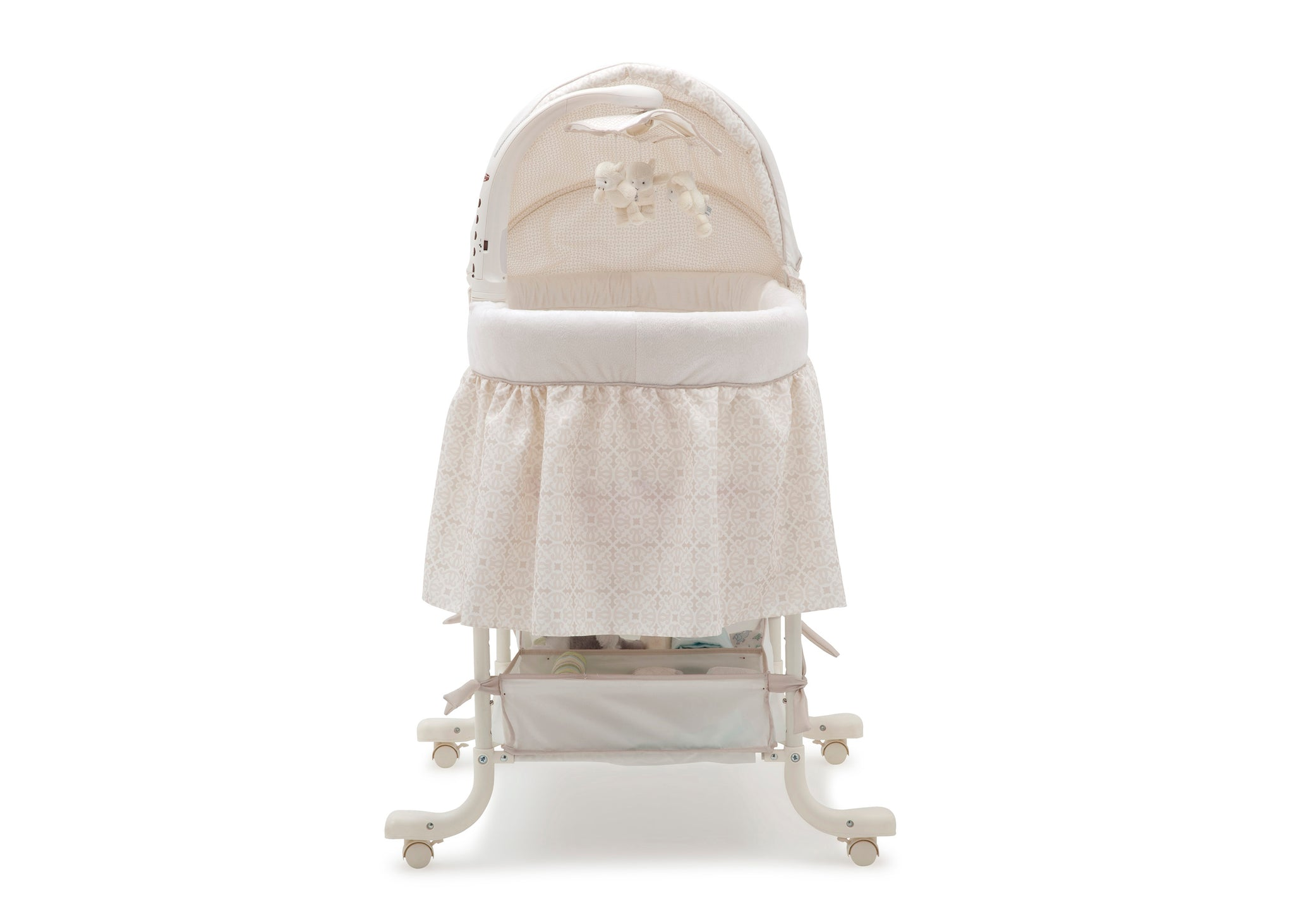 Simmons Kids Sandcastles (293) Deluxe Gliding Bassinet Front Silo View c2c
