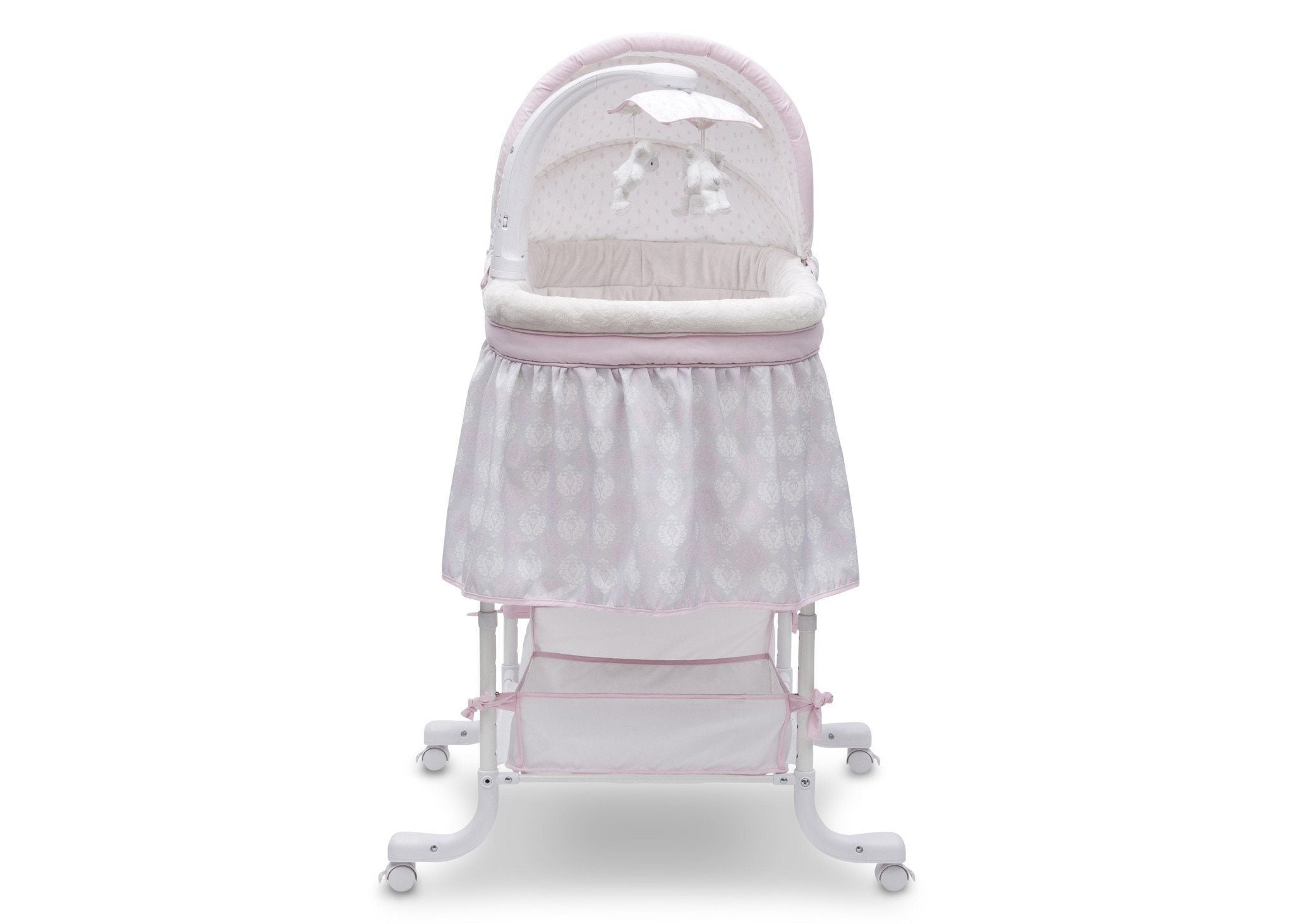 Simmons Kids Lucia (699) Deluxe Gliding Bassinet Front View e2e