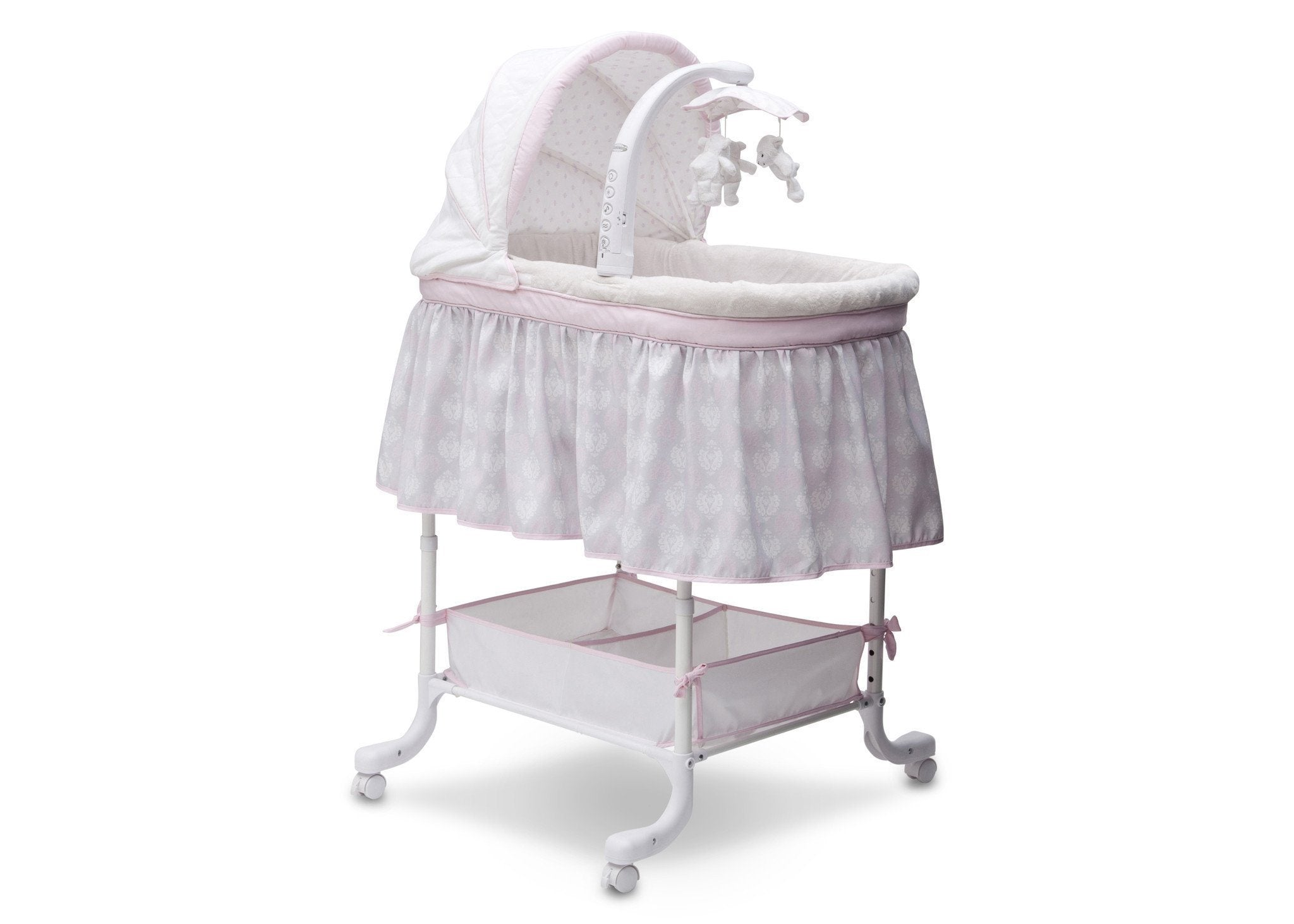 Simmons Kids Lucia (699) Deluxe Gliding Bassinet Right View e1e