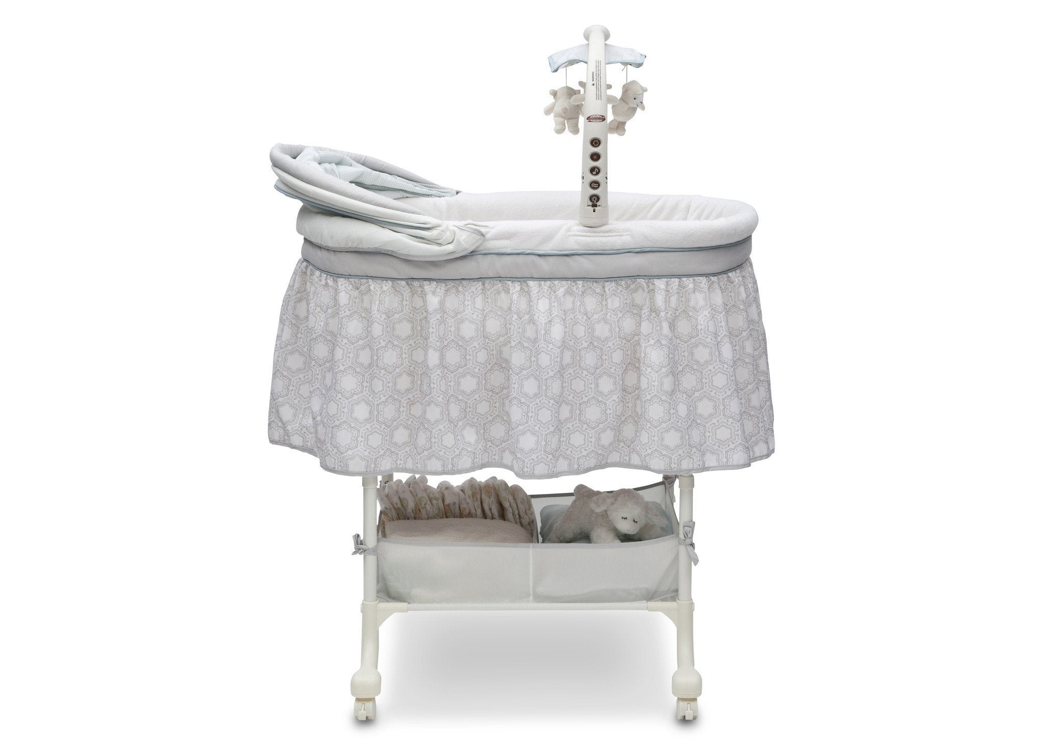 Simmons Kids Seaside (927) Deluxe Gliding Bassinet Full Right View f3f