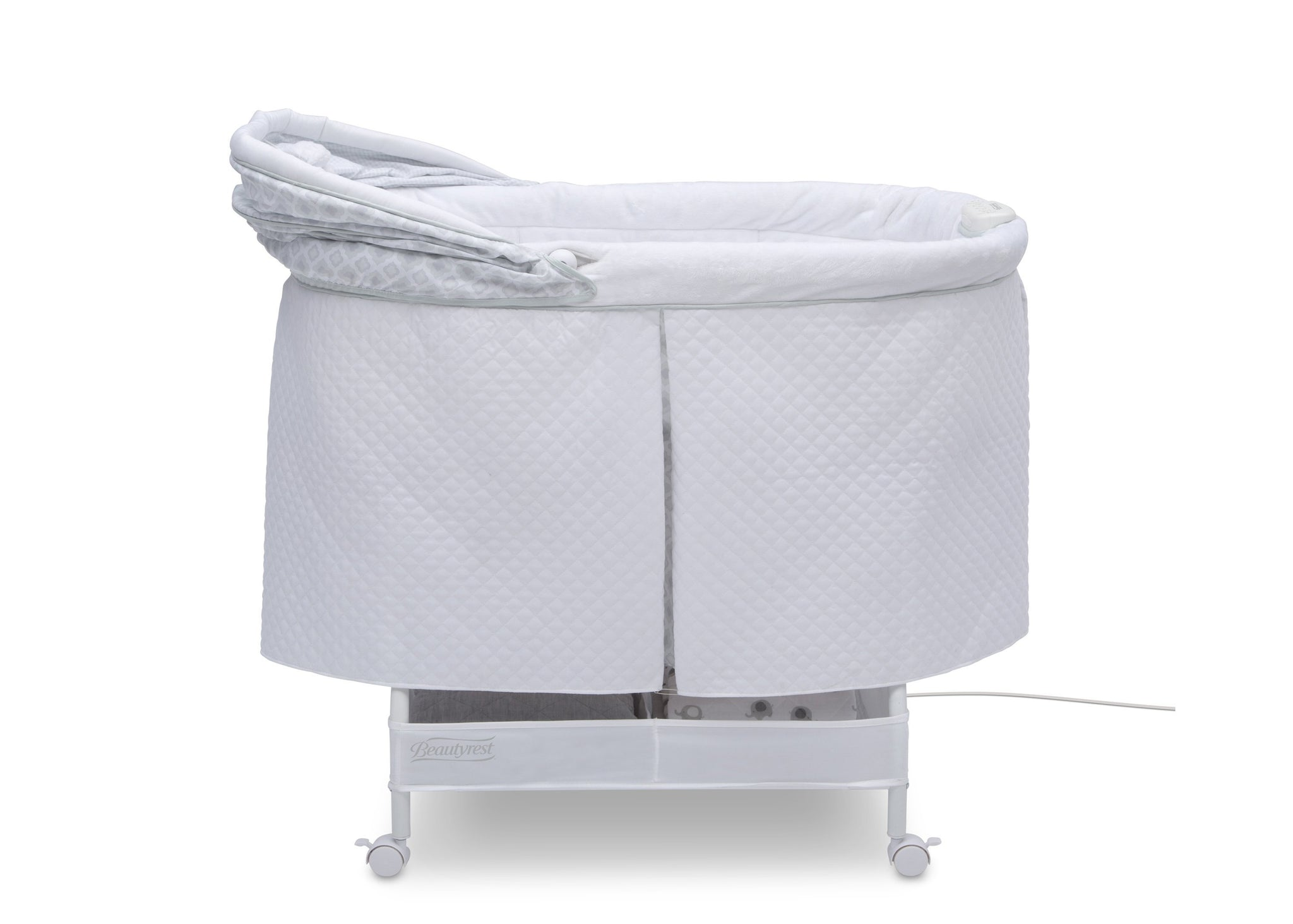 Simmons Kids Arcadia (2293) Silent Auto Gliding Lux Bassinet (701305-2293), Side Open, a3a
