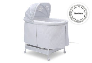 Simmons Kids Arcadia (2293) Silent Auto Gliding Lux Bassinet (701305-2293), Right Angle Closed, a2a