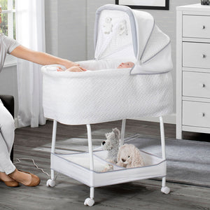 Silent Auto Gliding Elite Bassinet - Basketweave