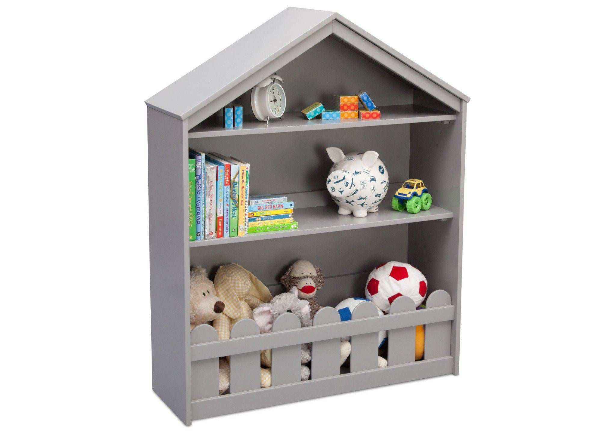 Serta White Grey (026) Happy Home Storage Bookcase a3a