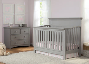 Serta Grey (026) Fairmount 4-in-1 Crib, Crib Conversion, Room View