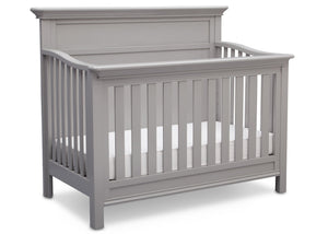 Serta Grey (026) Fairmount 4-in-1 Crib, Side View with Crib Conversion b4b