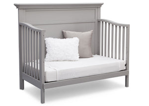 Serta Grey (026) Fairmount 4-in-1 Crib, Side View with Day Bed Conversion b6b
