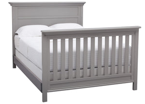 Serta Grey (026) Fairmount 4-in-1 Crib, Side View with Full Bed Conversion b7b