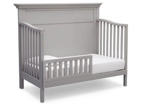Serta Grey (026) Fairmount 4-in-1 Crib, Side View with Toddler Bed Conversion b5b