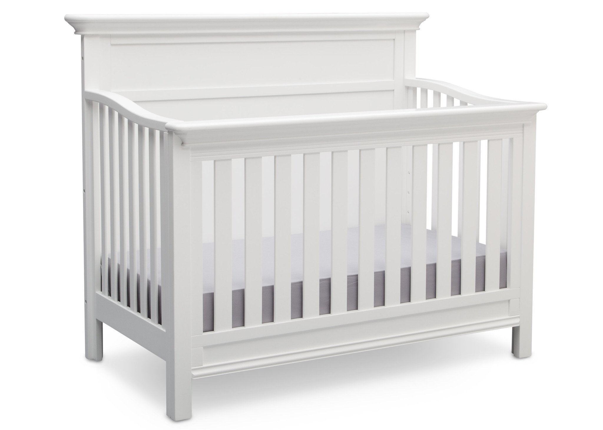 Serta Bianca White (130) Fairmount 4-in-1 Crib, Side View with Crib Conversion a4a