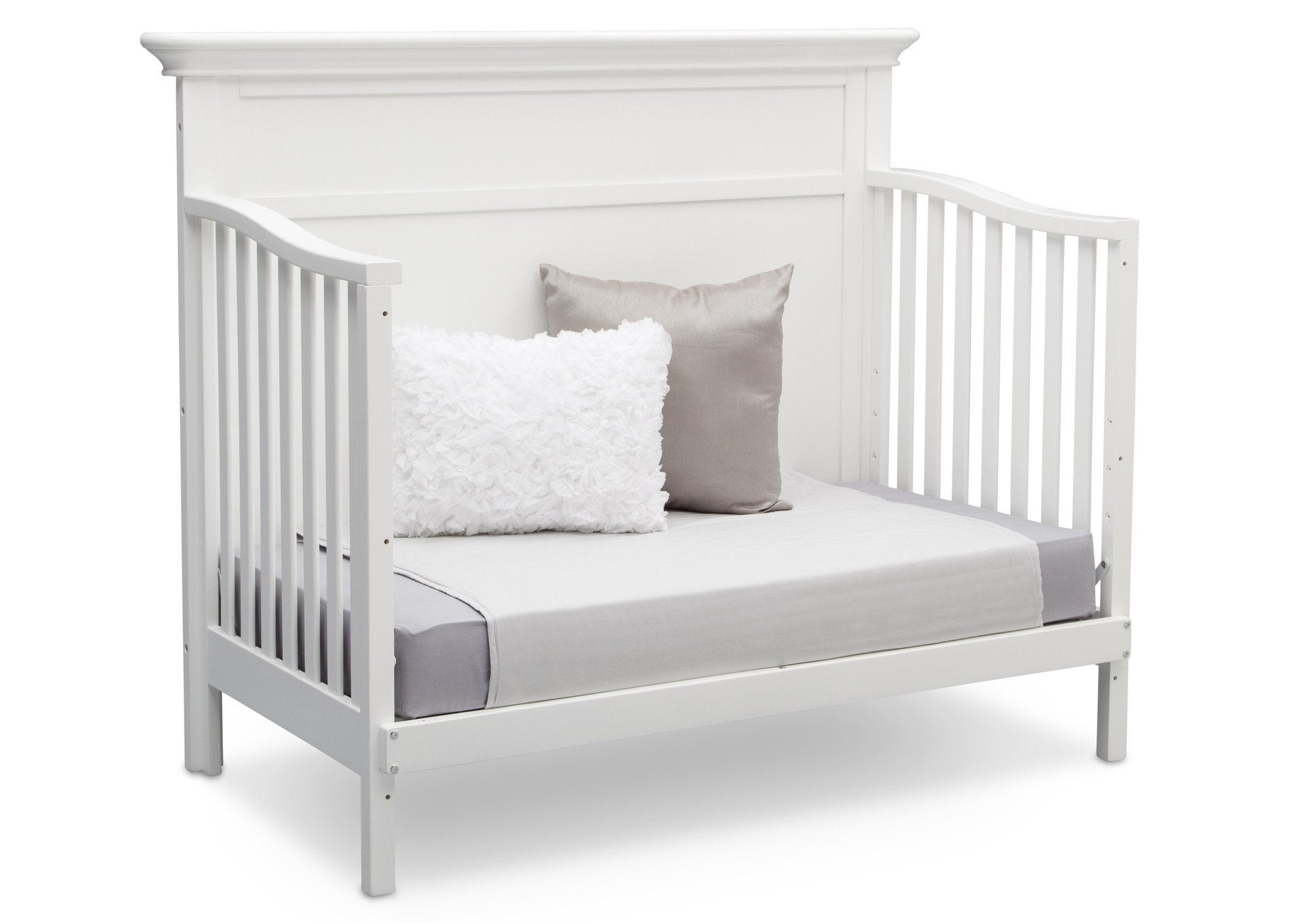 Serta Bianca White (130) Fairmount 4-in-1 Crib, Side View with Daybed Conversion a6a