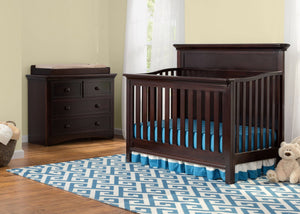 Serta Dark Chocolate (207) Fairmount 4-in-1 Crib, Room View