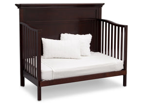 Serta Dark Chocolate (207) Fairmount 4-in-1 Crib, Side View with Day Bed Conversion c6c