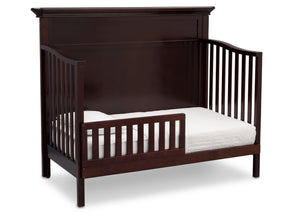 Serta Dark Chocolate (207) Fairmount 4-in-1 Crib, Side View with Toddler Bed Conversion c5c