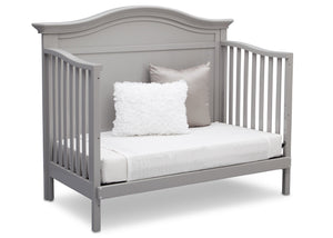 Serta Grey (026) Bethpage 4-in-1 Crib, Side View with Day Bed Conversion a6a