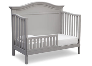 Serta Grey (026) Bethpage 4-in-1 Crib, Side View with Toddler Bed Conversion a5a
