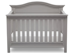 Serta Grey (026) Bethpage 4-in-1 Crib, Front View with Crib Conversion a3a