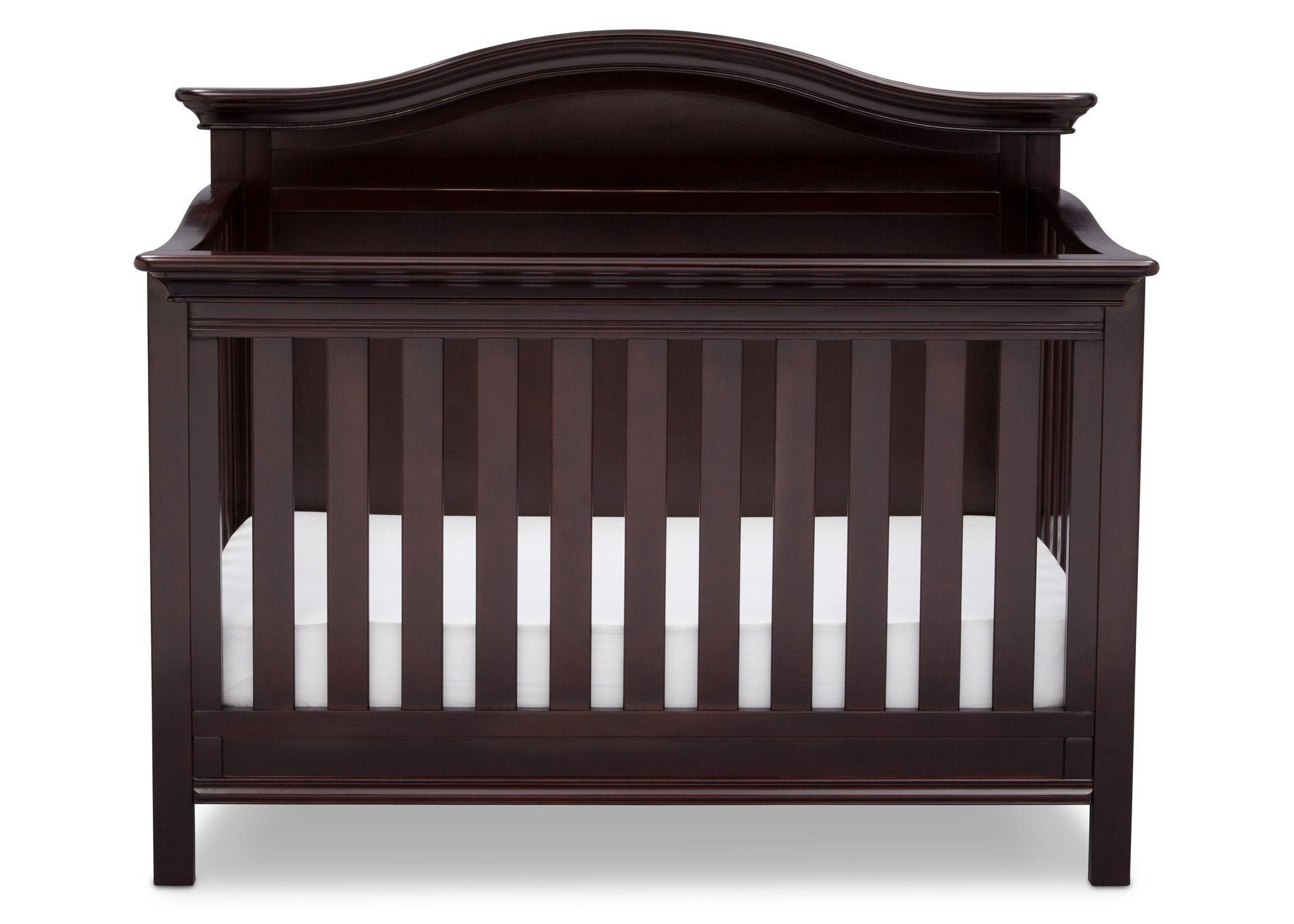 Serta Dark Chocolate (207) Bethpage 4-in-1 Crib, Front View with Crib Conversion c3c