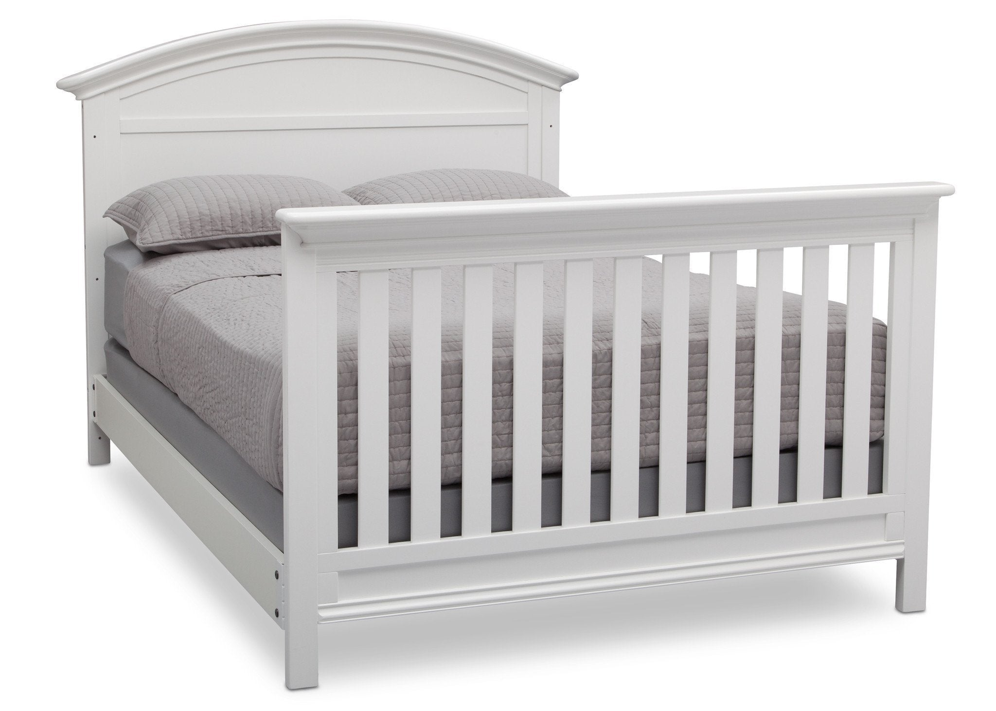 Serta Bianca (130) Adelaide 4-in-1 Crib, Side View with Full Size Platform Bed Kit (for 4-in-1 Cribs) 700850 and Footboard b7b