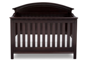 Serta Dark Chocolate (207) Adelaide 4-in-1 Crib, Front View with Crib Conversion c3c