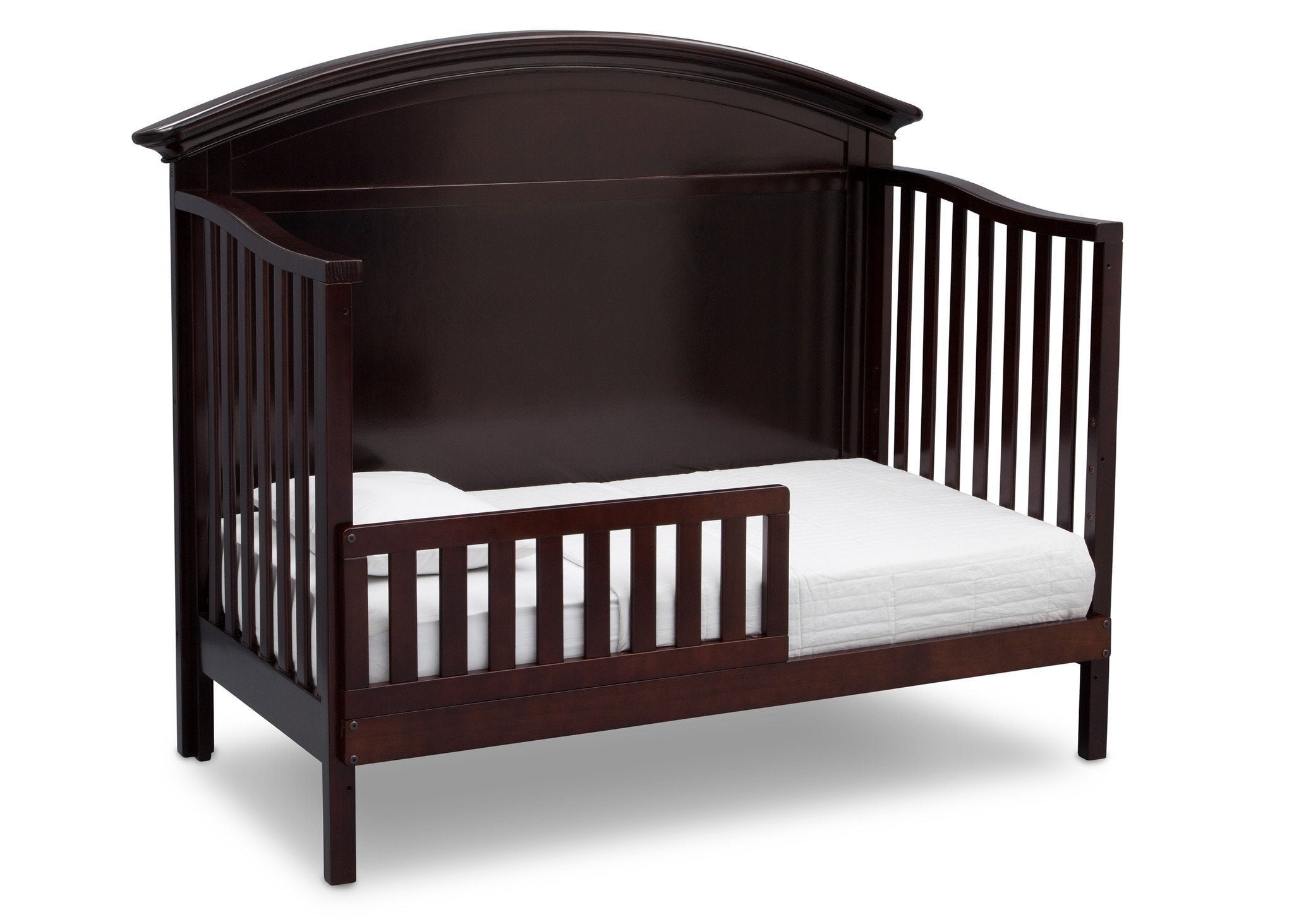 Serta Dark Chocolate (207) Adelaide 4-in-1 Crib, Side View with Toddler Bed Conversion c5c
