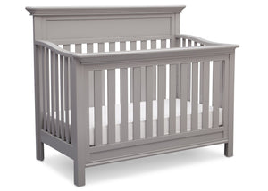 Serta Grey (026) Fernwood 4-in-1 Crib, Side View with Crib Conversion b4b