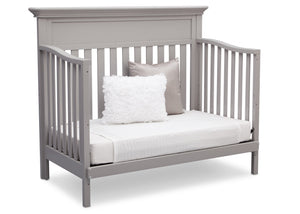 Serta Grey (026) Fernwood 4-in-1 Crib, Side View with Day Bed Conversion b6b