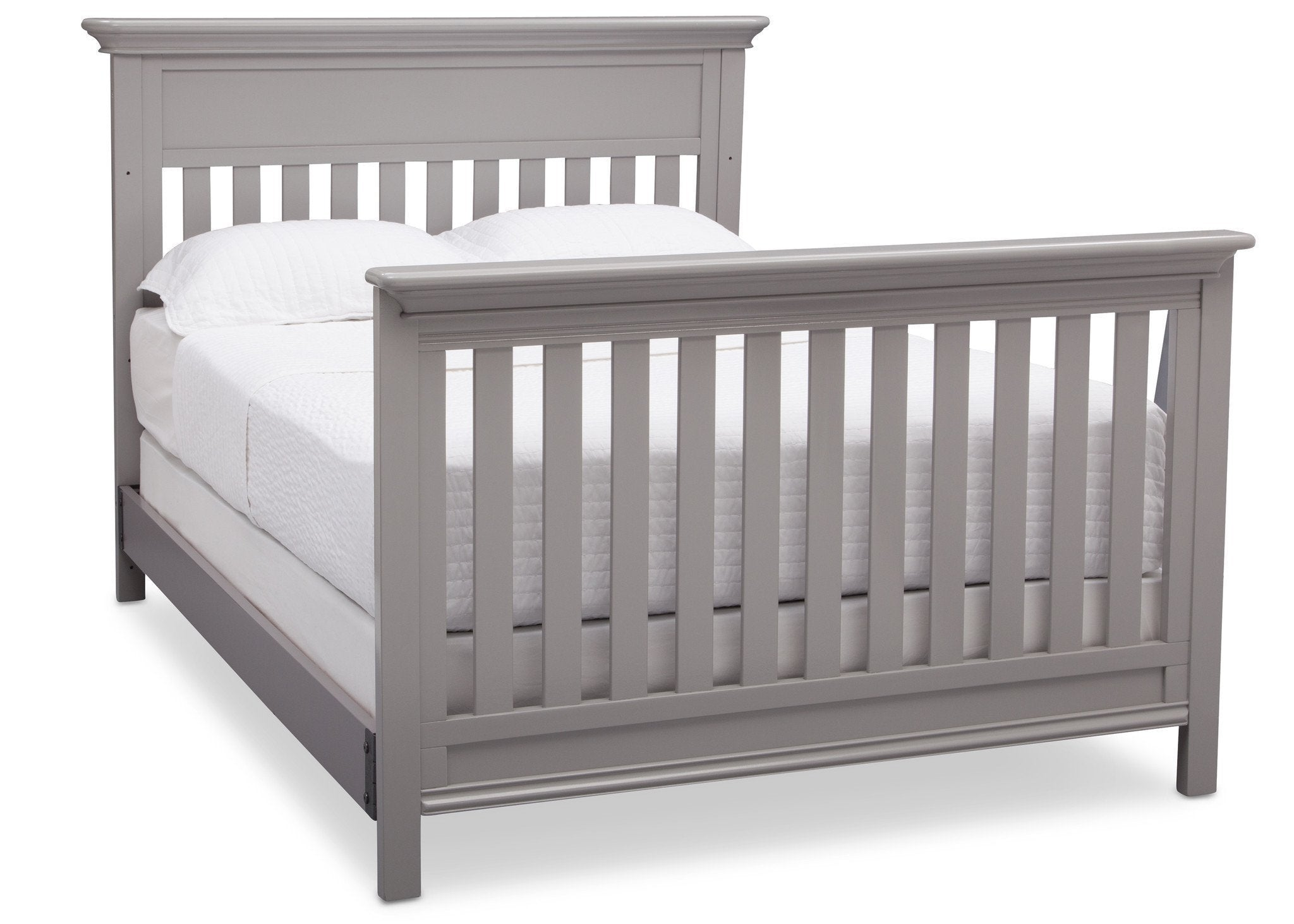 Serta Grey (026) Fernwood 4-in-1 Crib, Side View with Full Size Platform Bed Kit (for 4-in-1 Cribs) 700850 b7b