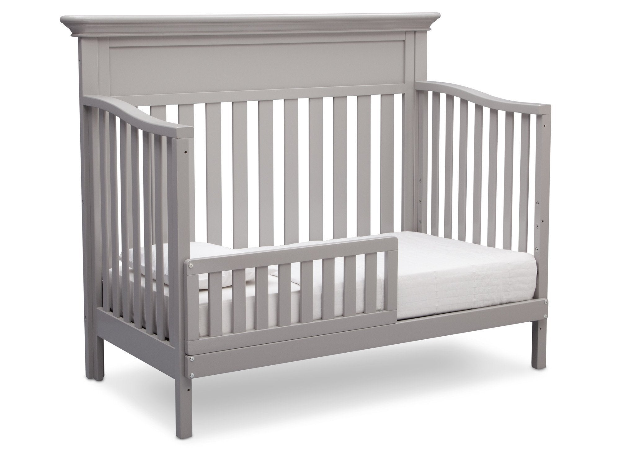 Serta Grey (026) Fernwood 4-in-1 Crib, Side View with Toddler Bed Conversion b5b