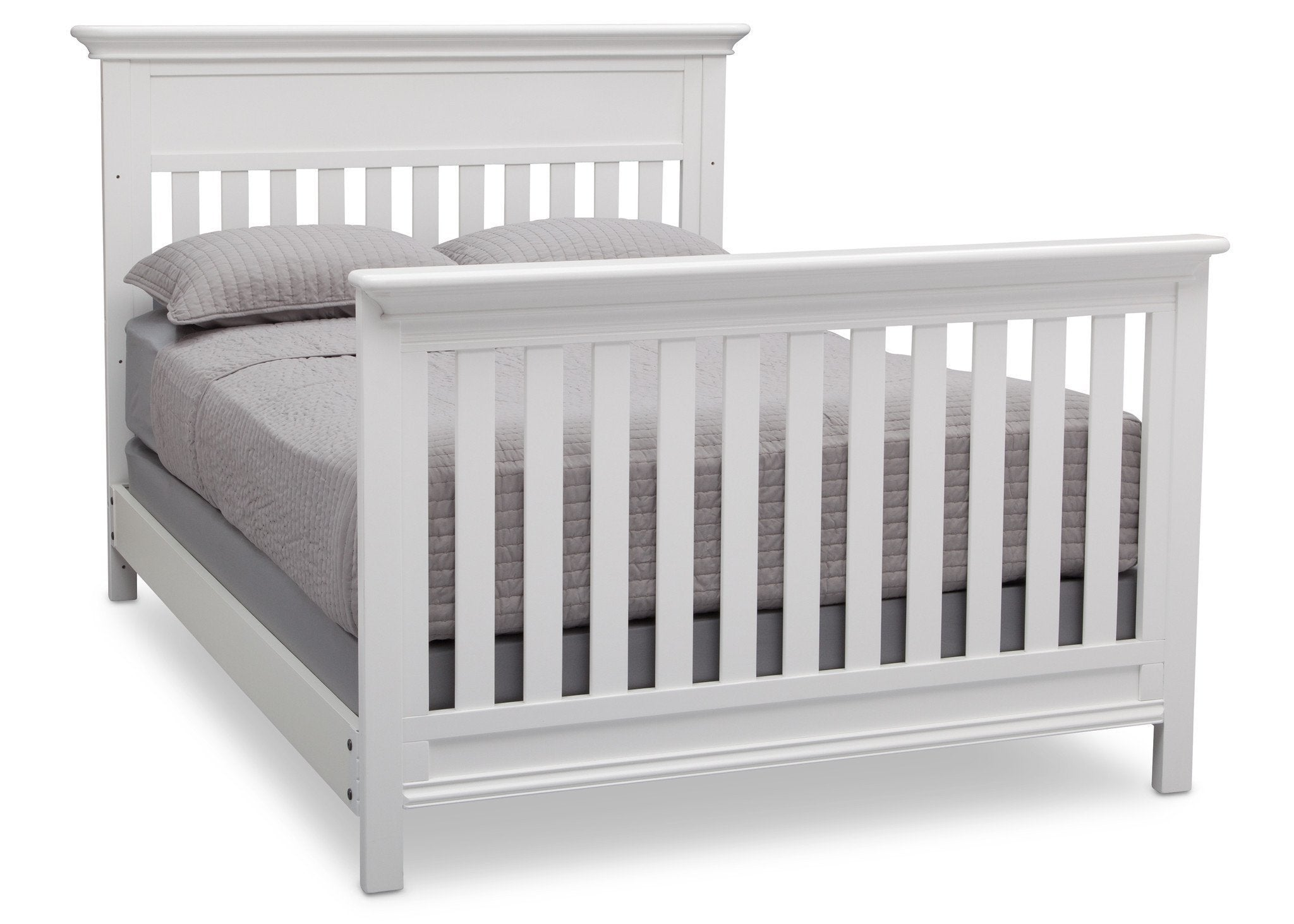 Serta Bianca (130) Fernwood 4-in-1 Crib, Side View with Full Size Platform Bed Kit (for 4-in-1 Cribs) 700850 a7a