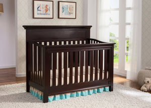 Serta Dark Chocolate (207) Fernwood 4-in-1 Crib, Hangtag View c2c