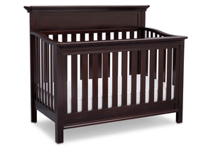 Serta Dark Chocolate (207) Fernwood 4-in-1 Crib, Side View with Crib Conversion c4c