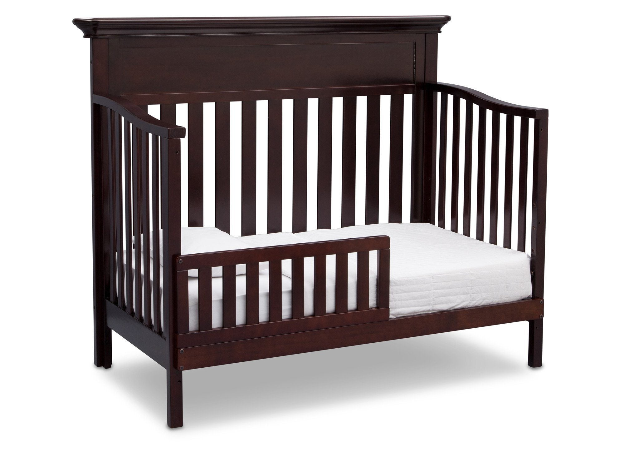 Serta Dark Chocolate (207) Fernwood 4-in-1 Crib, Side View with Crib Conversion c5c