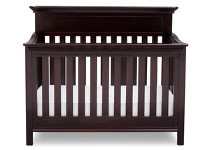 Serta Dark Chocolate (207) Fernwood 4-in-1 Crib, Front View with Crib Conversion c3c