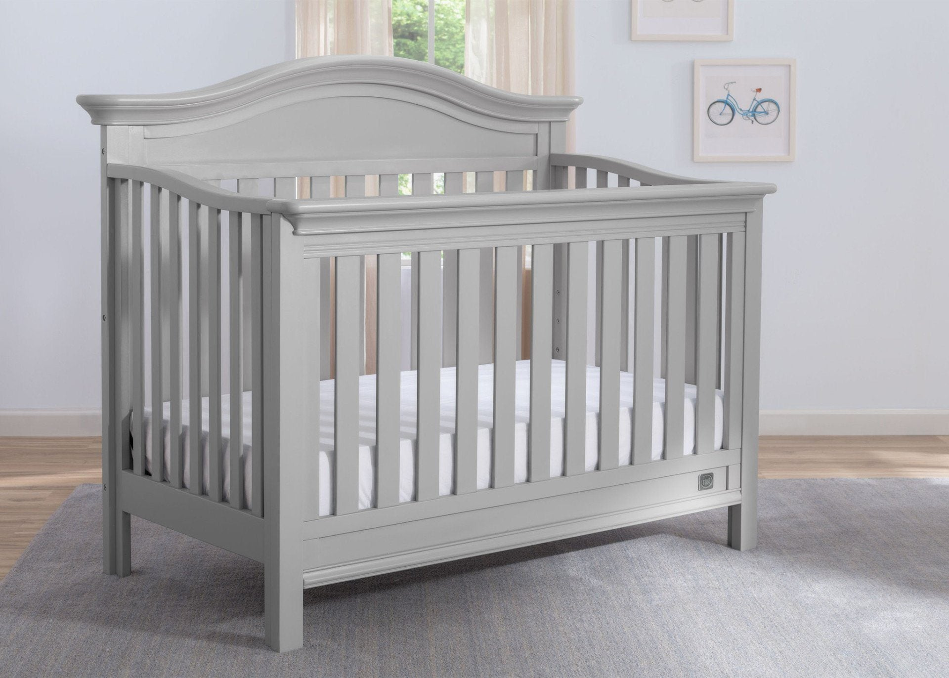 Serta Grey (026) Banbury 4-in-1 Convertible Crib, Hangtag