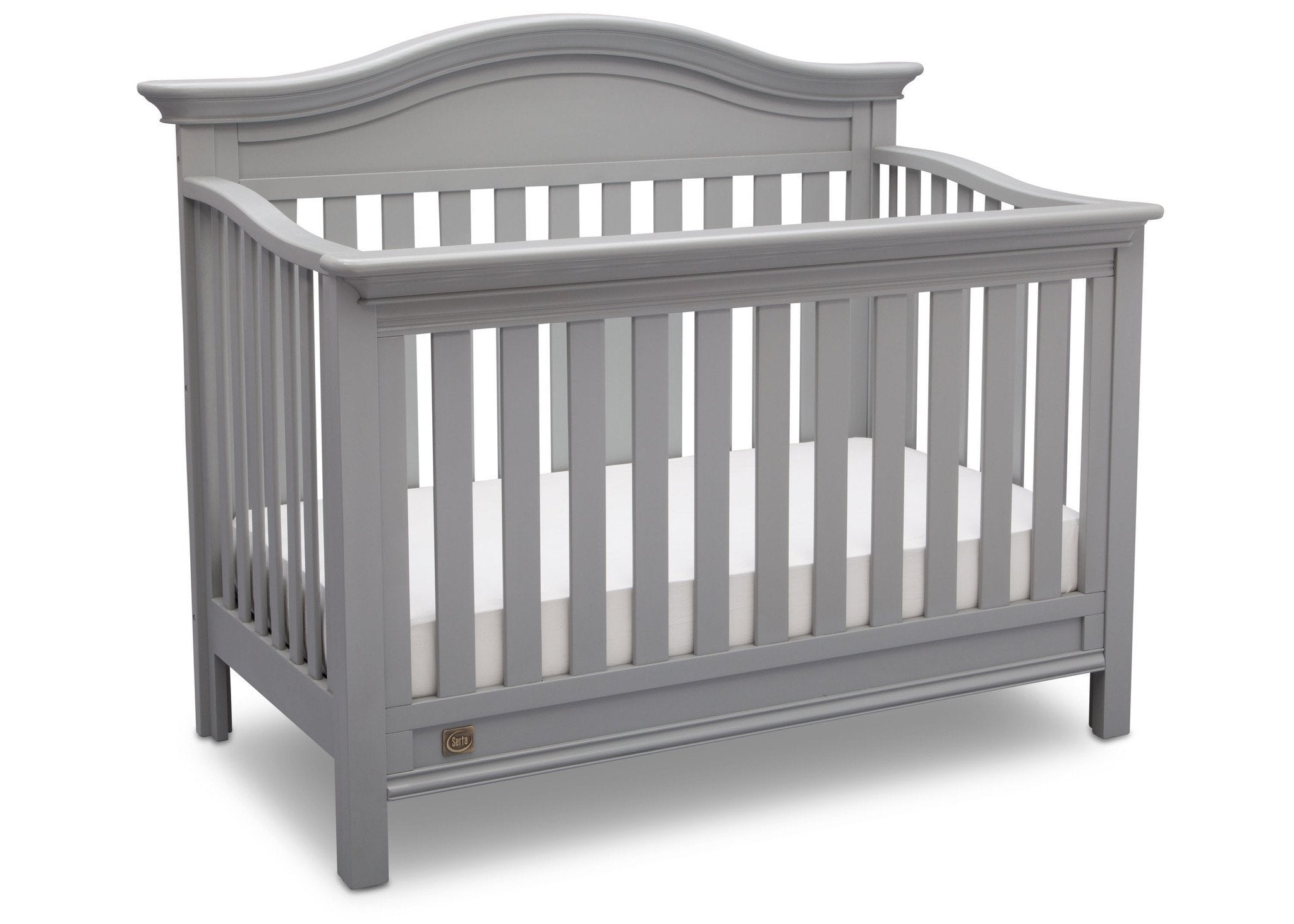 Serta Grey (026) Banbury 4-in-1 Convertible Crib, Right View a2a