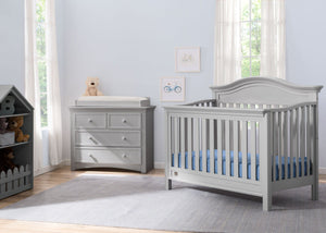 Serta Grey (026) Banbury 4-in-1 Convertible Crib, Room View a1a