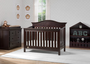 Serta Dark Chocolate (207) Banbury 4-in-1 Convertible Crib, Room View c1c