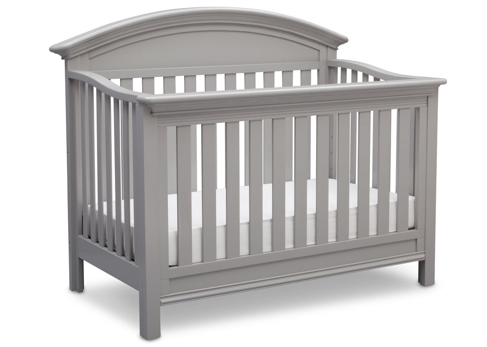 Serta Grey (026) Aberdeen 4-in-1 Crib, Side View with Crib Conversion a4a