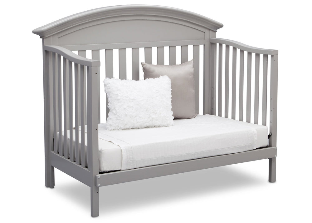 Serta Grey (026) Aberdeen 4-in-1 Crib, Side View with Day Bed Conversion a6a