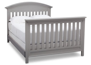 Serta Grey (026) Aberdeen 4-in-1 Crib with Full Size Platform Bed Kit (for 4-in-1 Cribs) 700850 with Footboard a7a