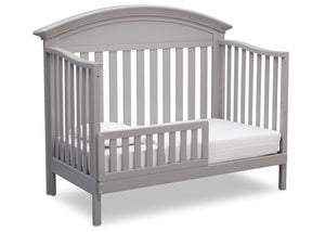 Serta Grey (026) Aberdeen 4-in-1 Crib, Side View with Toddler Bed Conversion a5a